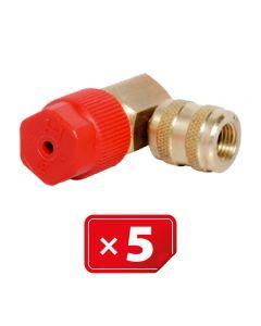 Retrofit Adapter Hogedruk zijde 90° 3/16 SAE. Set van 5 stuks.