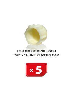 """UNF Plastic Kapje voor GM Compressor 7/8""""-14 (5 st.)"""