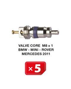 Ventiel kern M8 x 1 voor BMW-Mini-Rover-Mercedes 2011 Airco systemen (5 st.)