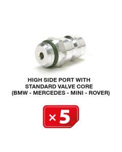 Nippel Hogedruk zijde met standaard ventiel (BMW-Mercedes-Mini-Rover) (5 st.)