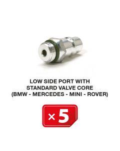 Nippel Lagedruk zijde met standaard ventiel (BMW-Mercedes-Mini-Rover) (5 st.)