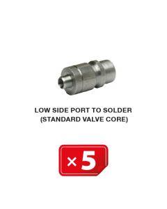 Standaard ventiel voor lagedruk zijde (te solderen) (5 st.)