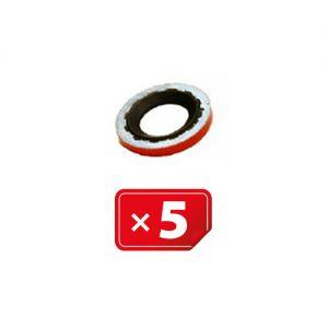 Compressor pakking Rood Ø15,70 mm (in) x Ø30,00 mm (uit) voor Harrison & GM Compressor ( verpakt per 5 stuks)