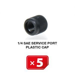 Airco Service Poort Plastic kapje  1/4 SAE (5 st.)
