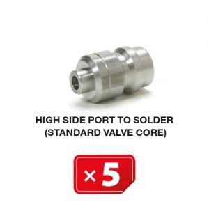 Standaard ventiel voor hogedruk zijde (te solderen) (5 st.)
