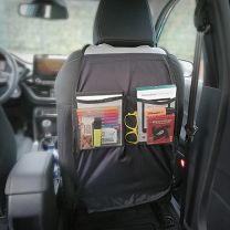 Waterproof beschermhoes en organizer voor in de auto, zwart, 65 x 44 cm