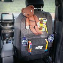 Luxe Beschermhoes en Organizer voor in de auto grijs  56 x 40 cm - Autostoel Organizer