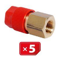 """Retrofit Adapter 1/4"""" SAE Hogedruk zijde. Set van 5 stuks"""