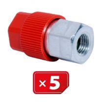 """Retrofit Adapter 3/16"""" SAE Hogedruk zijde. Set van 5 stuks"""