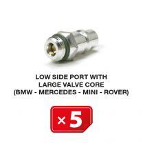 Nippel Lagedruk zijde met lang ventiel (BMW-Mercedes-Mini-Rover) (5 st.)