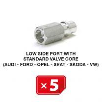 Nippel Lagedruk zijde met lang standaard ventiel (Audi-Ford-Opel-Seat-Skoda-VW) (5 st.)
